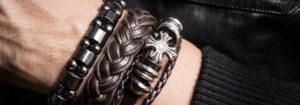 Bracelets cuir  homme